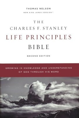 Charles F. Stanley Life Principles Bible NKJV, Comfort Print, hardcover - 9780785225362