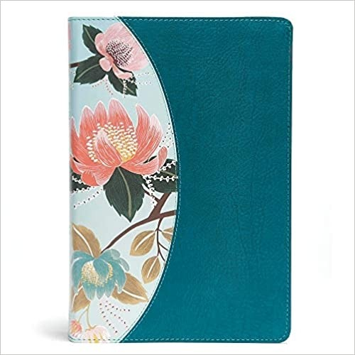 The CSB Study Bible For Women Teal Flowers LeatherTouch Indexed - 9781433651304