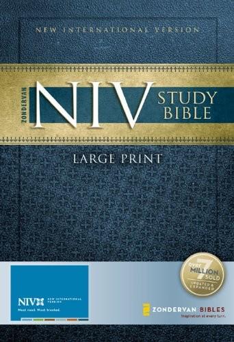 NIV Study Bible, Large Print Hardcover – Large Print - 9780310939221