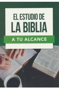 El estudio de la Biblia a tu alcance -