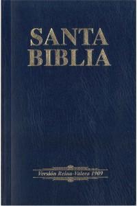 Biblia RVR 1909 economica azul -