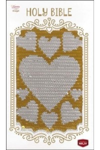 Sequin Sparkle and Change Bible NKJV Silver and Gold -