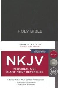 NKJV Comfort Print Reference Bible NKJV, Personal Size Giant Print, Hardcover, Black -