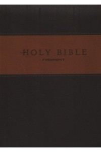 NLT Holy Bible, Giant Print TuTone Brown and Tan Imitation Leather, Thumb Indexed -