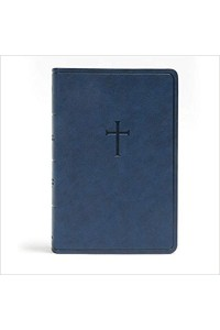 Everyday Study Bible, CSB Navy Cross LeatherTouch -
