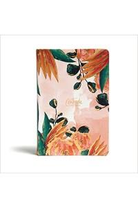 Biblia devocional para mujeres, centrada en Cristo, floral símil piel RVR 1960 -