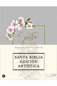 Biblia Edición Artística, Tapa Dura/Tela, Canto con Diseño, Edición Letra Roja  NBLA                                                                                    -  - Vida,