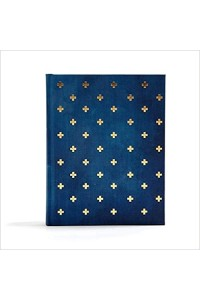 CSB Notetaking Bible Navy Cross Cloth -