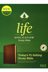 NLT Life Application Study Bible, Third Edition soft leather look, dark brown/brown indexed -