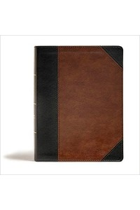 Tony Evans Study Bible, CSB Black/Brown LeatherTouch, Black Letter, Study Note Imitation Leather -