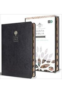 Biblia letra grande tamaño manual, índice, simil piel negro RVR1960 -