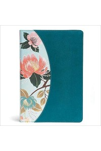 The CSB Study Bible For Women Teal Flowers LeatherTouch Indexed -