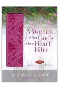Woman After God's Own Heart Bible NKJV  Deep Rose  -  - George, Elizabeth