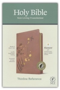 NLT Thinline Reference Bible, Filament Enabled Edition soft leather look, pink indexed -