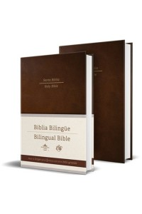 Biblia Bilingüe Reina Valera 1960/ESV letra grande tapa dura marrón -