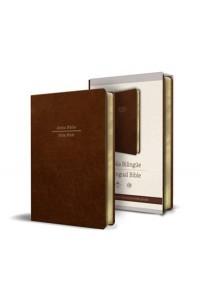 Biblia Bilingüe Reina Valera 1960/ESV letra grande simi piel marrón -