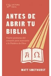 Antes de abrir la Biblia  -