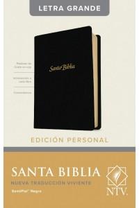 Biblia NTV tamaño manual, simil piel negro indice. -