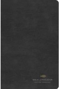 Biblia del Pescador RVR 1960 Edición liderazgo, negro símil piel -