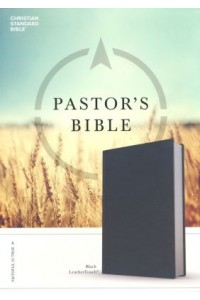 CSB Pastor's Bible Black Deluxe LeatherTouch -