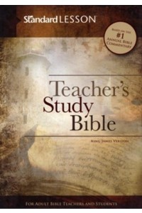 KJV Standard Lesson Teacher's Study Bible, hard cover -