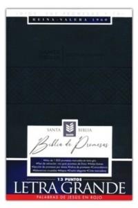 Biblia de promesas  RVR 1960 Letra Grande negra imitación piel -