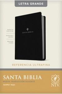 Biblia NTV, Edición de referencia ultrafina, letra grande (SentiPiel, Negro, Índice) -  - Tyndale House Publishers, Inc.