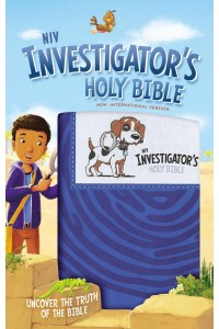 Niv, Investigator's Holy Bible, Leathersoft, Blue: Uncover the Truth of the Bible -  - Zondervan,