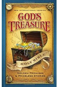 Niv, God's Treasure Holy Bible, Hardcover: Golden Promises and Priceless Stories -  - Zondervan,