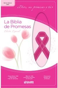 Biblia de Promesas Piel Rosa Cáncer RVR1960 -