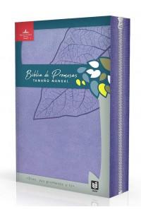 Biblia de Promesas RVR1960 / Tamaño Manual Letra grande / Piel especial / Lavanda Indice con. Cierre -  - RVR 1960- Reina Valera 1960,