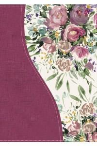 Biblia de una joven conforme al corazón de Dios Floral -  - George, Elizabeth