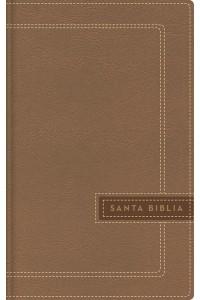 Biblia Ultrafina, Letra Grande, Tamaño Manual, Leathersoft, Beige, Edición Letra Roja NBLA -  - NBLA-Nueva Biblia de Las Américas,