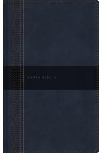 Biblia Ultrafina, Letra Grande, Tamaño Manual, Leathersoft, Azul, Edición Letra Roja NBLA -  - NBLA-Nueva Biblia de Las Américas,