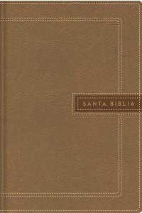Biblia Ultrafina, Letra Gigante, Leathersoft, Beige, Edición Letra Roja NBLA -  - NBLA-Nueva Biblia de Las Américas,