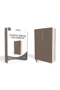 Biblia NBLA Letra Supergigante, Tapa Dura/Tela, Gris, Edición Letra Roja -  - Vida,