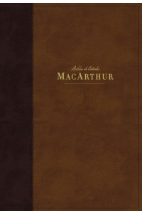 Biblia de Estudio MacArthur, NBLA  Leathersoft, Café, Interior a dos colores -  - MacArthur, John F.