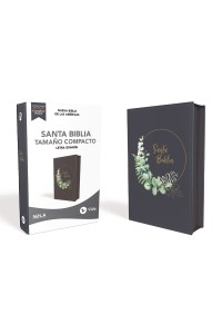 Biblia Ultrafina NBLA , Tamaño Compacto, Leathersoft, Azul Grisáceo, con Cierre, Edición Letra Roja -  - Vida,
