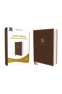 Biblia Edición para Notas RVR 1960, Leathersoft, Café, Letra Roja -  - Vida,