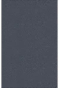 Biblia de Estudio MacArthur, NBLA  Piel Genuina, Azul Pizarra, Interior a dos colores -  - MacArthur, John F.