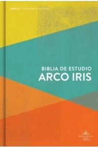 Biblia de Estudio Arcoiris RVR 1960 multicolor tapa dura -
