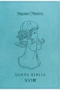 Biblia Precious Moments NVI Angelitos, Ultrafina Compacta Aqua -  - Nueva Versión Internacional,