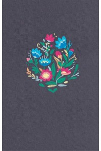 Biblia RVR 1960 Ultrafina, azul bordado sobre tela -