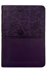 NKJV Large Print Compact Reference Bible, Purple LeatherTouch, Mass Market Edition -
