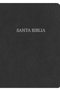 RVR 1960 Biblia Letra Gigante negro, piel fabricada con índice -