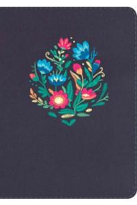 Biblia NVI Letra Gigante, bordado sobre tela con índice -