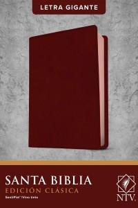 Biblia NTV, Edición clásica, letra gigante (Letra Roja, SentiPiel, Vino tinto, Índice)  -  - Tyndale