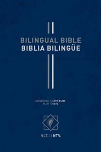 Bilingual Bible / Biblia bilingüe NLT/NTV (Hardcover, Blue) (Spanish and English Edition) -  - Tyndale