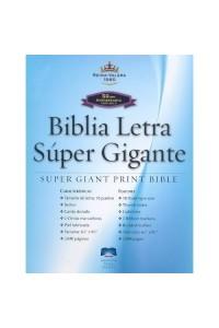 Biblia Letra Super Gigante RVR 1960, Piel Fabricada Negra, Indice -