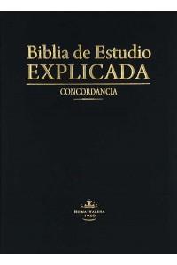 Biblia de estudio Explicada (Piel especial negra) RVR60 -